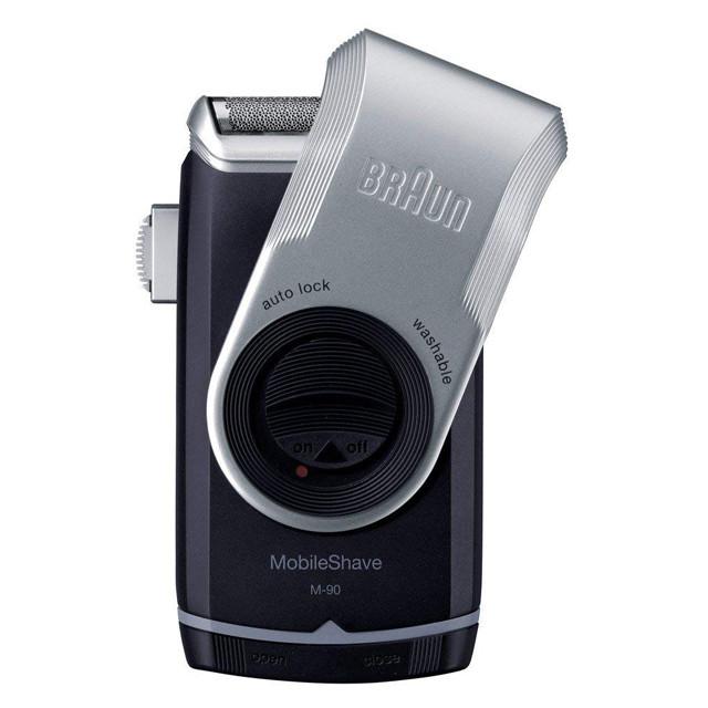 出張・旅行におすすめの携帯用電気シェーバー(水洗い可)「ブラウン M-90」